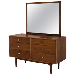 Dresser Suite and Mirror by Kipp Stewart for Drexel in Walnut
