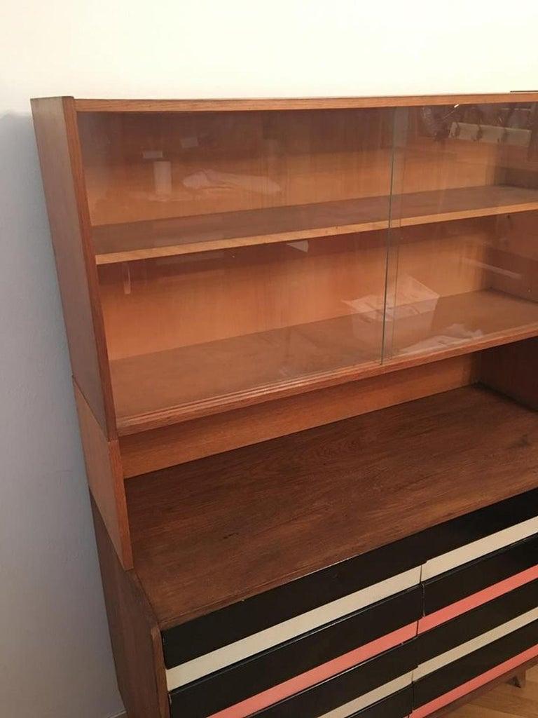 Mid-Century Modern Dresser with Bookcase Jiri Jiroutek for Interier Praha – U 453 For Sale