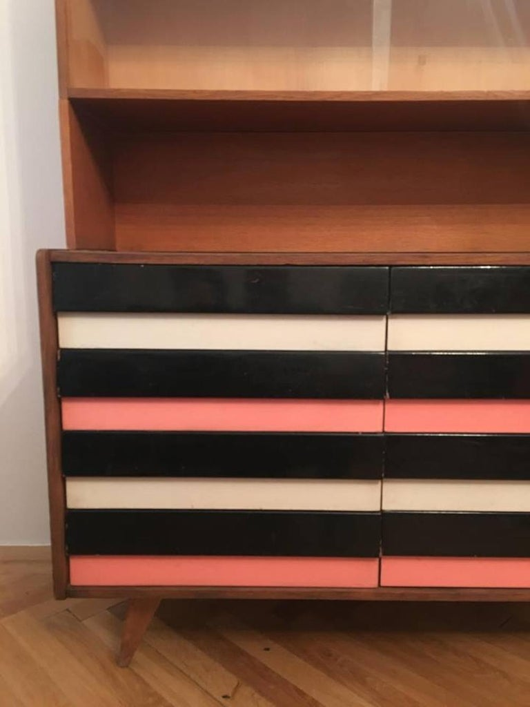 Czech Dresser with Bookcase Jiri Jiroutek for Interier Praha – U 453 For Sale