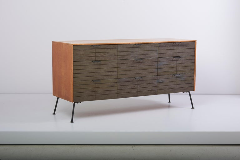 Mid-Century Modern Dresser with Stool by Raymond Loewy for Mengel Furniture Company, Us, 1950s For Sale