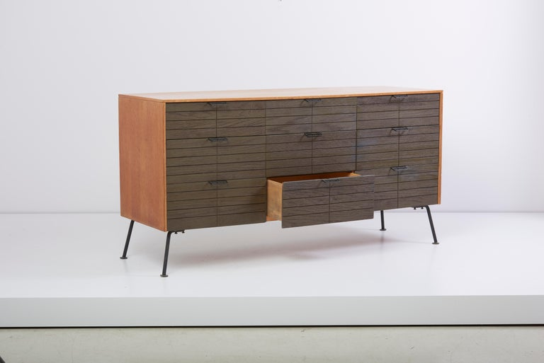 American Dresser with Stool by Raymond Loewy for Mengel Furniture Company, Us, 1950s For Sale