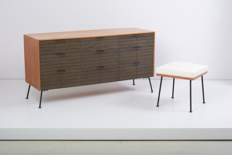 Dresser with Stool by Raymond Loewy for Mengel Furniture Company, Us, 1950s For Sale 2
