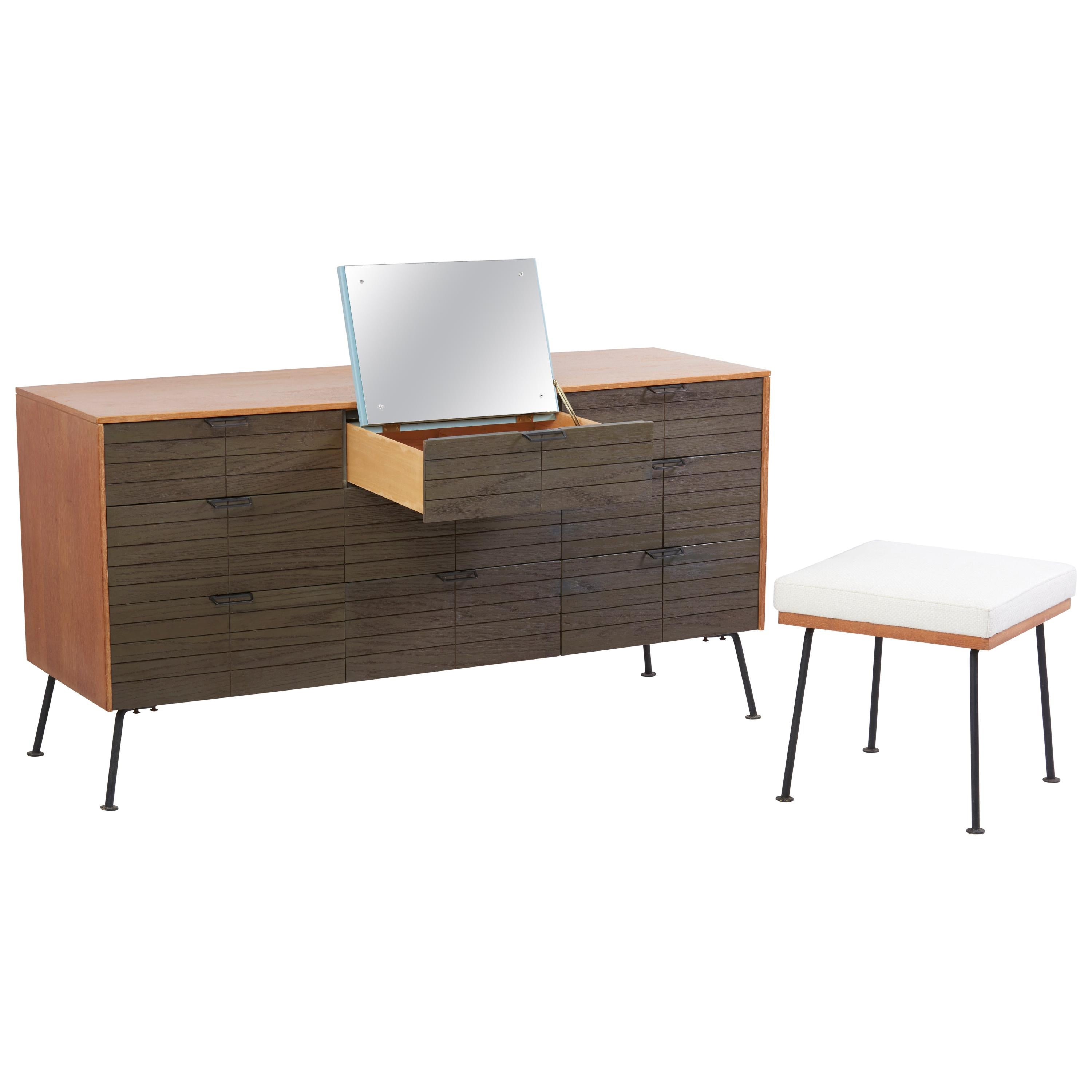 Dresser with Stool by Raymond Loewy for Mengel Furniture Company, Us, 1950s