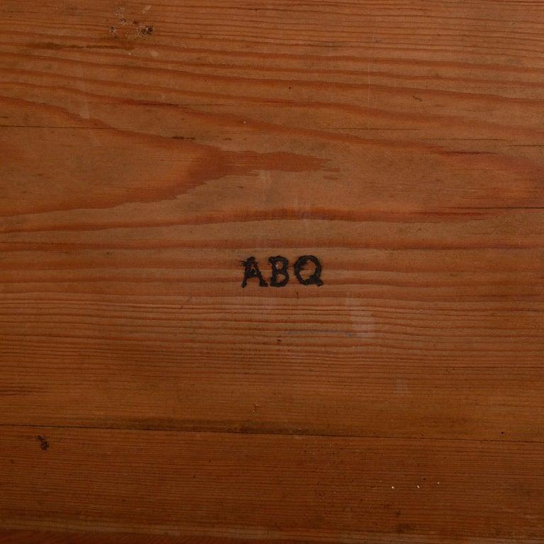 Dresser / Writing Chest Swedish Empire Mahogany Black Brass, Sweden For Sale 6
