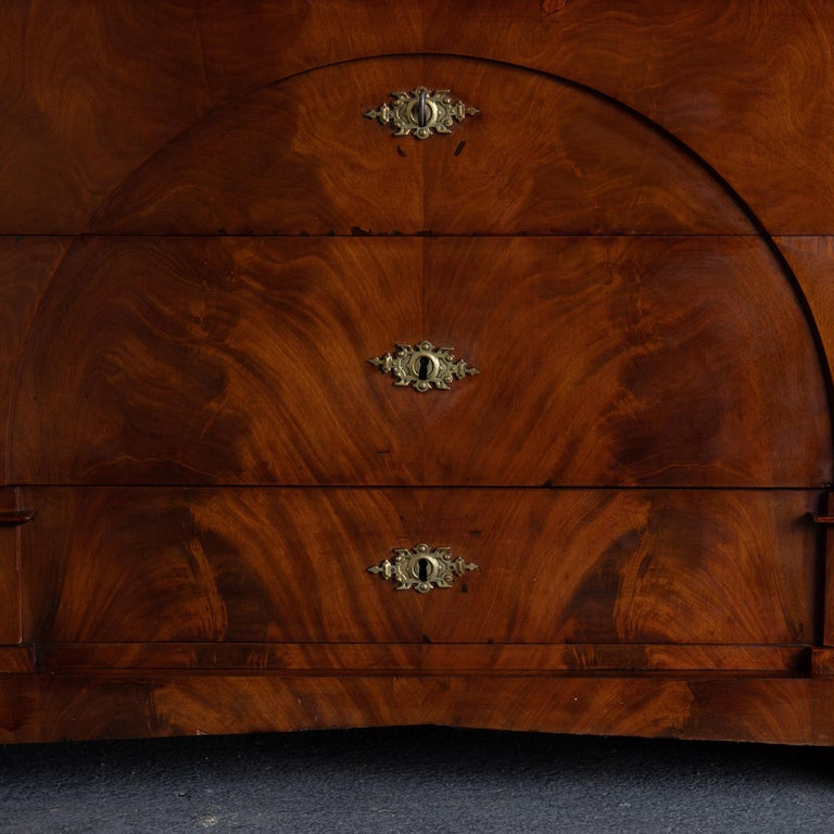 Dresser / Writing Chest Swedish Empire Mahogany Black Brass, Sweden For Sale 7