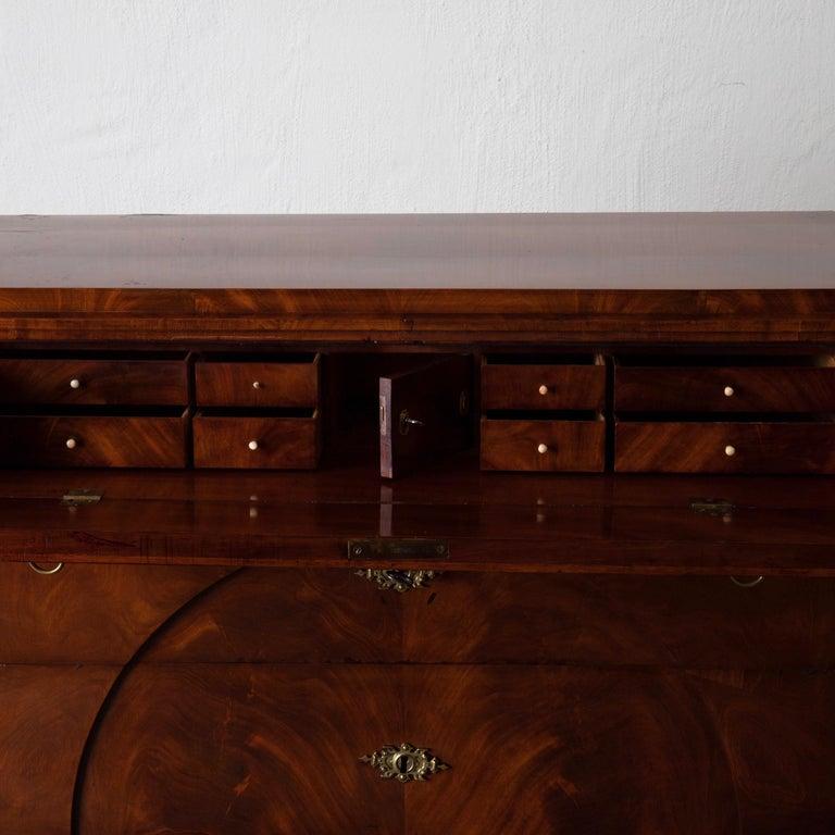 Dresser / Writing Chest Swedish Empire Mahogany Black Brass, Sweden For Sale 8
