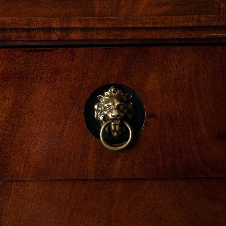 Dresser / Writing Chest Swedish Empire Mahogany Black Brass, Sweden For Sale 2