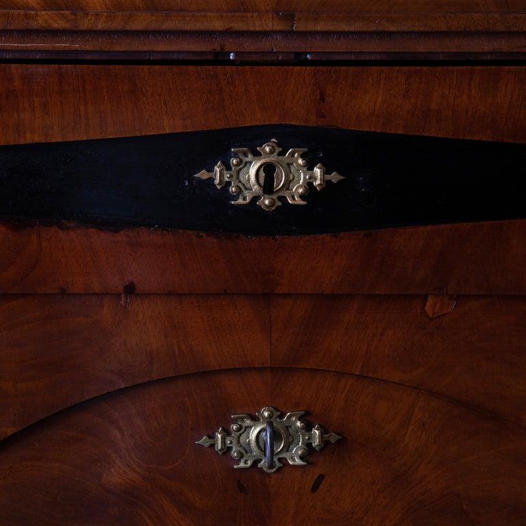 Dresser / Writing Chest Swedish Empire Mahogany Black Brass, Sweden For Sale 3