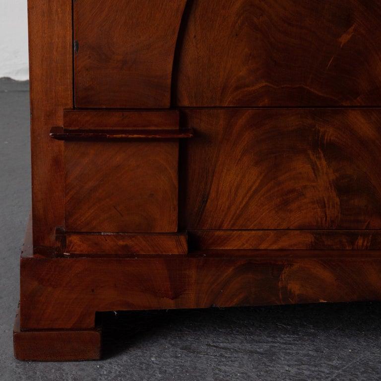 Dresser / Writing Chest Swedish Empire Mahogany Black Brass, Sweden For Sale 4