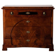 Dresser / Writing Chest Swedish Empire Mahogany Black Brass, Sweden