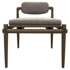 Dressing Chair Upholstered Interlock André Fu Living Grey Oak New Modern