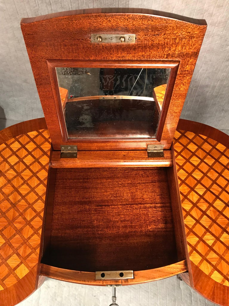 Marquetry Dressing Table, France Second Half of the 19th Century For Sale