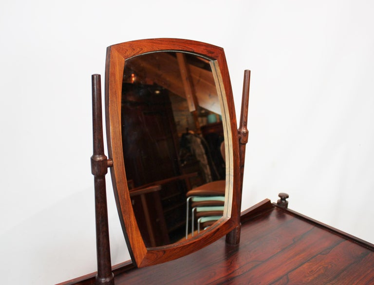 Dressing Table in Rosewood of Danish Design from the 1960s For Sale 1