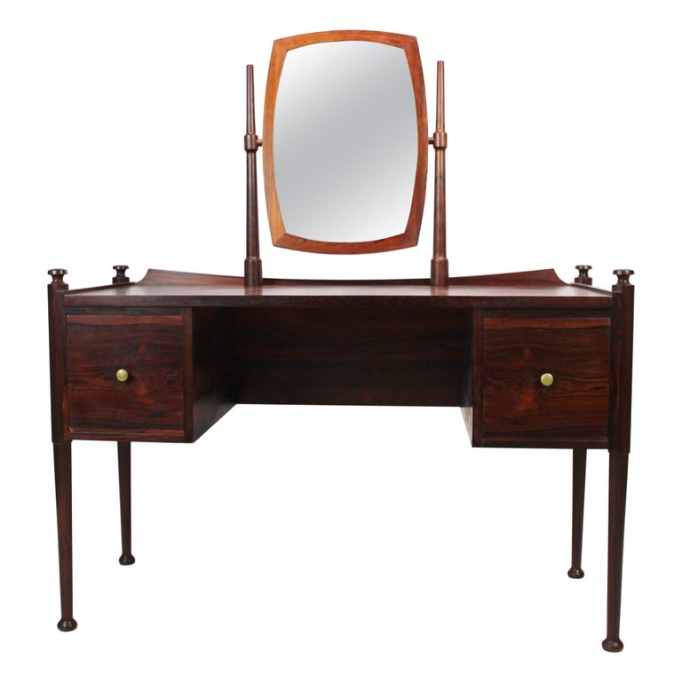 Dressing Table in Rosewood of Danish Design from the 1960s For Sale