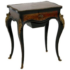 Dressing Table Ladies France Napoleon III in Bronze and Wood, 19th Century