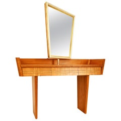 Dressing Table Midcentury 1930-1950 Austria Cherry Mirror Drawers