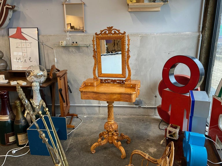 Late Victorian Dressing Table / Vanity Table, Historicism, Sweden, 1880 For Sale