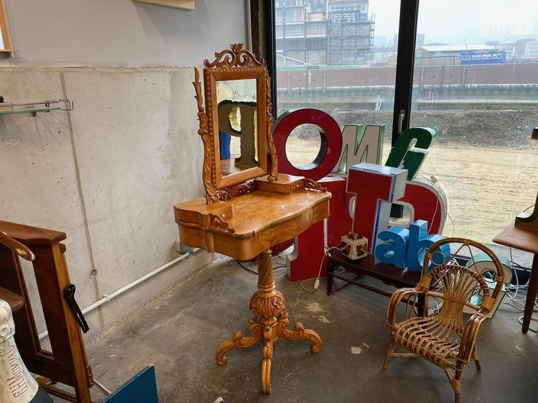 Late 19th Century Dressing Table / Vanity Table, Historicism, Sweden, 1880 For Sale