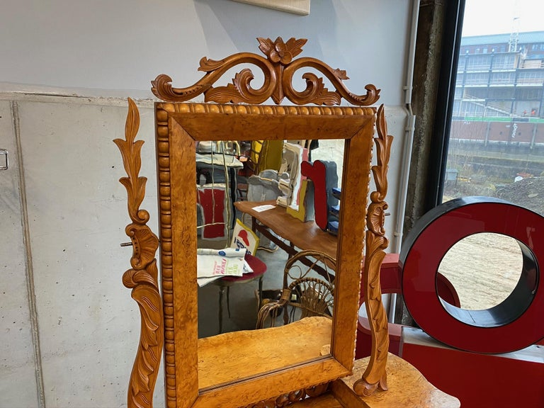 Wood Dressing Table / Vanity Table, Historicism, Sweden, 1880 For Sale