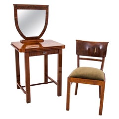 Dressing table with chair, Scandinavia, 1940s