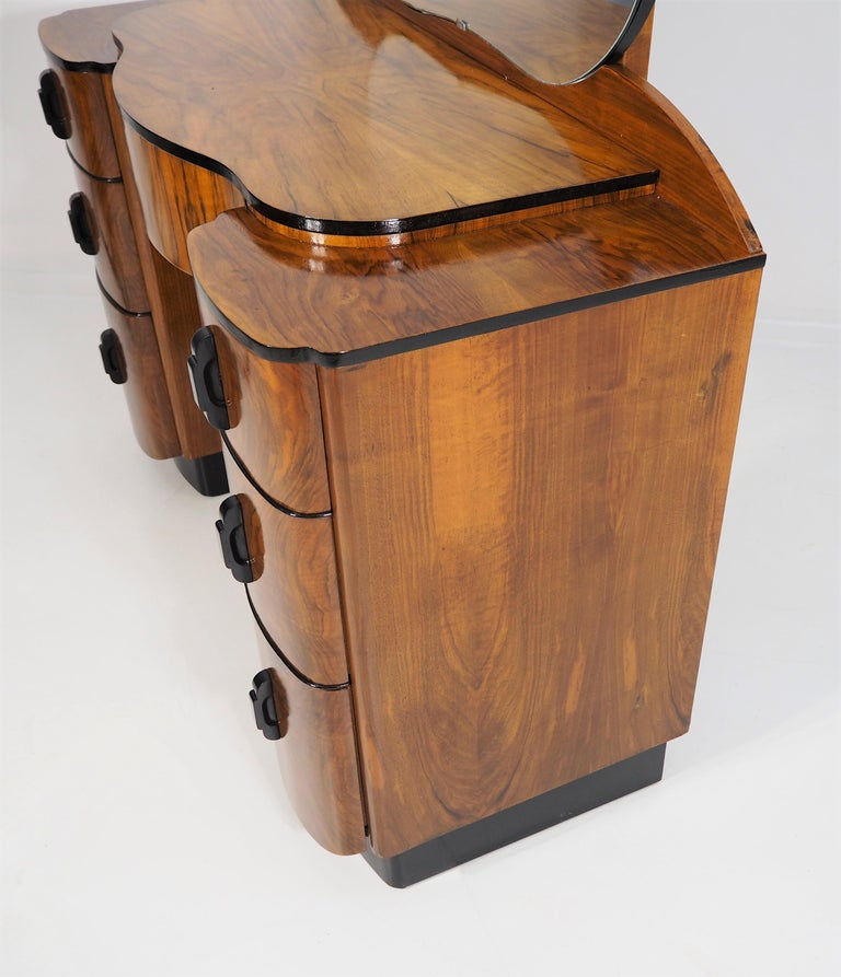 Dressing Table with Mirror by Jindřich Halabala, 1950s 4