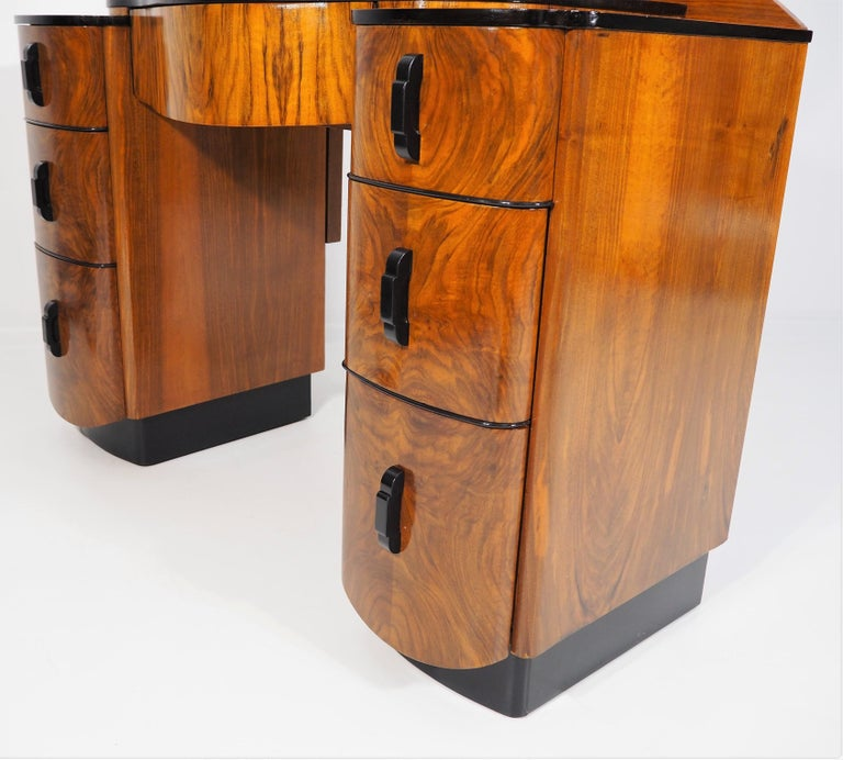 Dressing Table with Mirror by Jindřich Halabala, 1950s 5