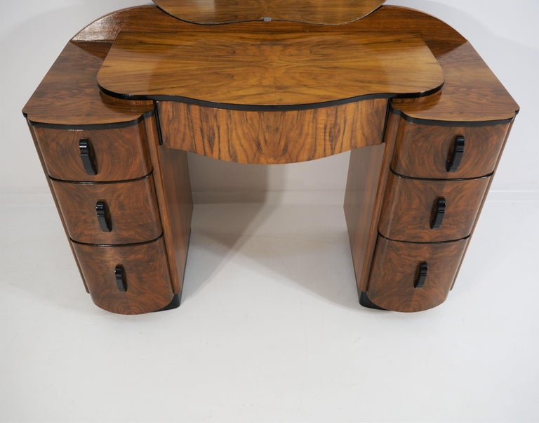 Art Deco Dressing Table with Mirror by Jindřich Halabala, 1950s