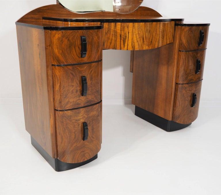 Dressing Table with Mirror by Jindřich Halabala, 1950s In Good Condition In Bielsko Biala, slaskie