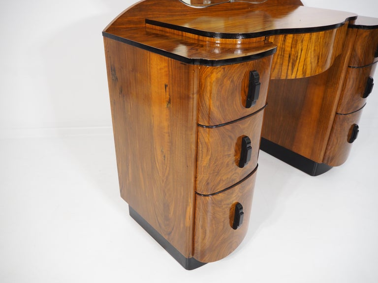 Mid-20th Century Dressing Table with Mirror by Jindřich Halabala, 1950s