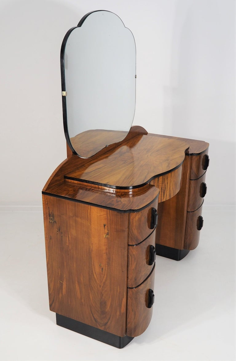 Dressing Table with Mirror by Jindřich Halabala, 1950s 1