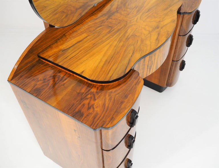 Dressing Table with Mirror by Jindřich Halabala, 1950s 2
