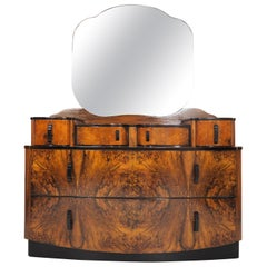 Dressing Table with Mirror by Jindrich Halabala, 1950s