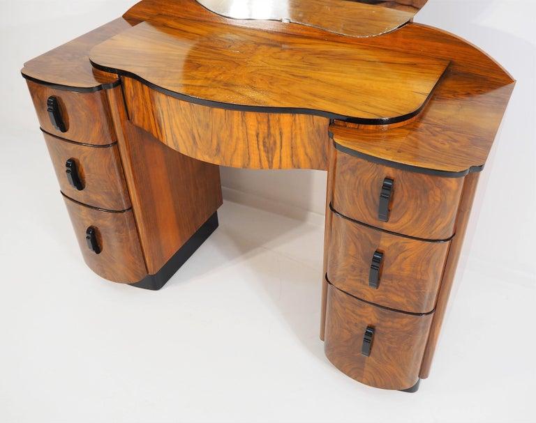 This unique furniture is made Czechoslovakia according the design J. Halabala. Beautiful design.