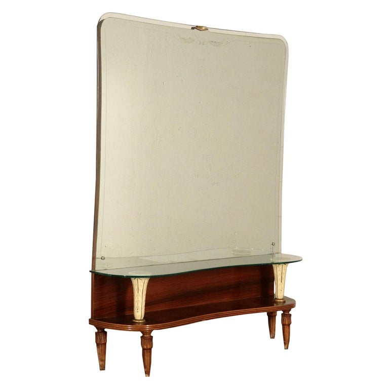 Dressing Table with Mirror, Italy, 1930s-1940s For Sale