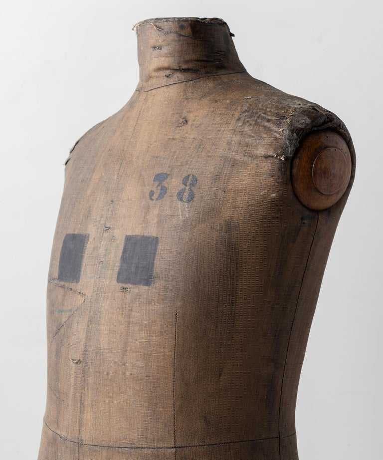 Hand-Crafted Dressmakers Display Mannequin, Northern European, circa 1920 For Sale