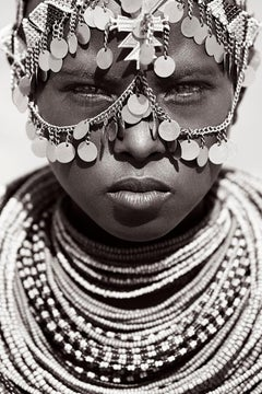Powerful Portrait of a Young African Woman in Tribal Jewelry, Best-seller, Kenya