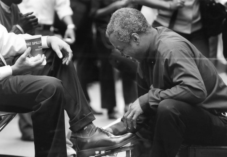 Shoeshine, Photograph by Drew Doggett For Sale 1