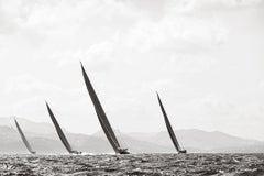 World Class Sailboats on the Open Seas, Classic, Horizontal, Minimalist