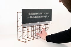 """Action Philadelphia 1970"", Miniature, Billboard, Free-Standing Sculpture"