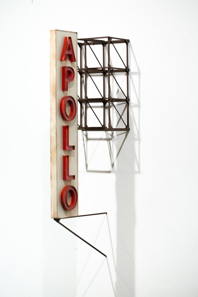 "Drew Leshko Still-Life Sculpture - ""Apollo Theater"", Miniature, Architecture, Sign, Cityscape, Sculpture"