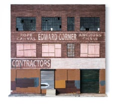 """Edward Corner Warehouse"", Miniature Building Architectural Paper Sculpture"
