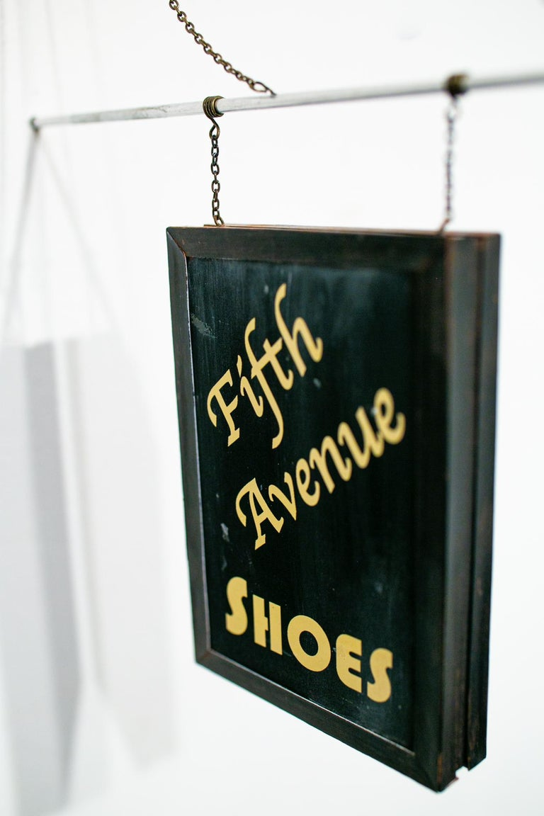 Fifth Avenue Shoes - Black Still-Life Sculpture by Drew Leshko