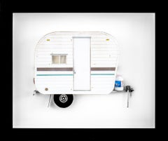 """MY WILLY"", Miniature, camping trailer van, paper sculpture"