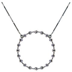 Drew Pietrafesa White Gold Diamond Circle Necklace