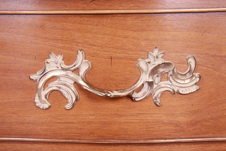 Drexel French Provincial Louis XV Carved Walnut Triple Dresser, circa 1950s 7