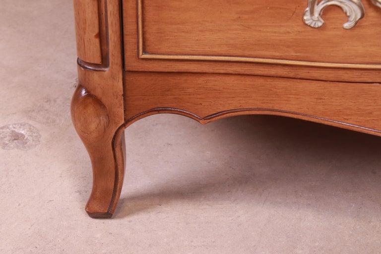 Drexel French Provincial Louis XV Carved Walnut Triple Dresser, circa 1950s 9