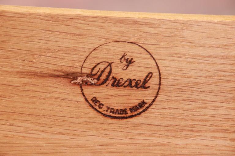 Drexel French Provincial Louis XV Carved Walnut Triple Dresser, circa 1950s 12