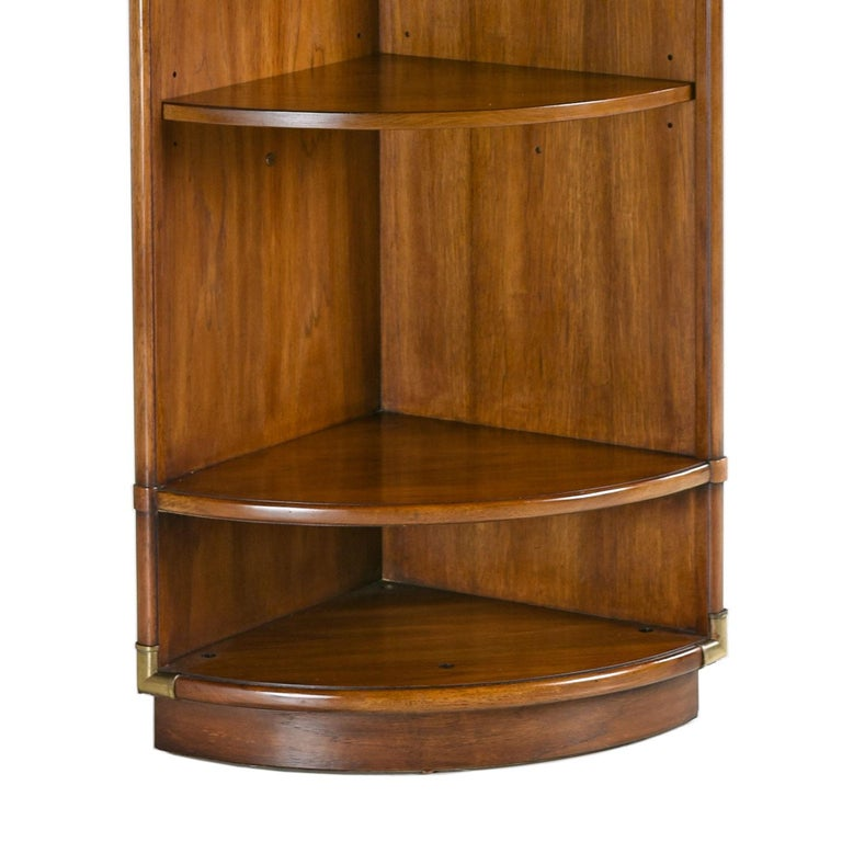 Campaign Style Corner Bookcase Wall Unit By Drexel