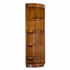 Drexel Heritage Accolade Collection Campaign Style Corner Bookcase Wall Unit
