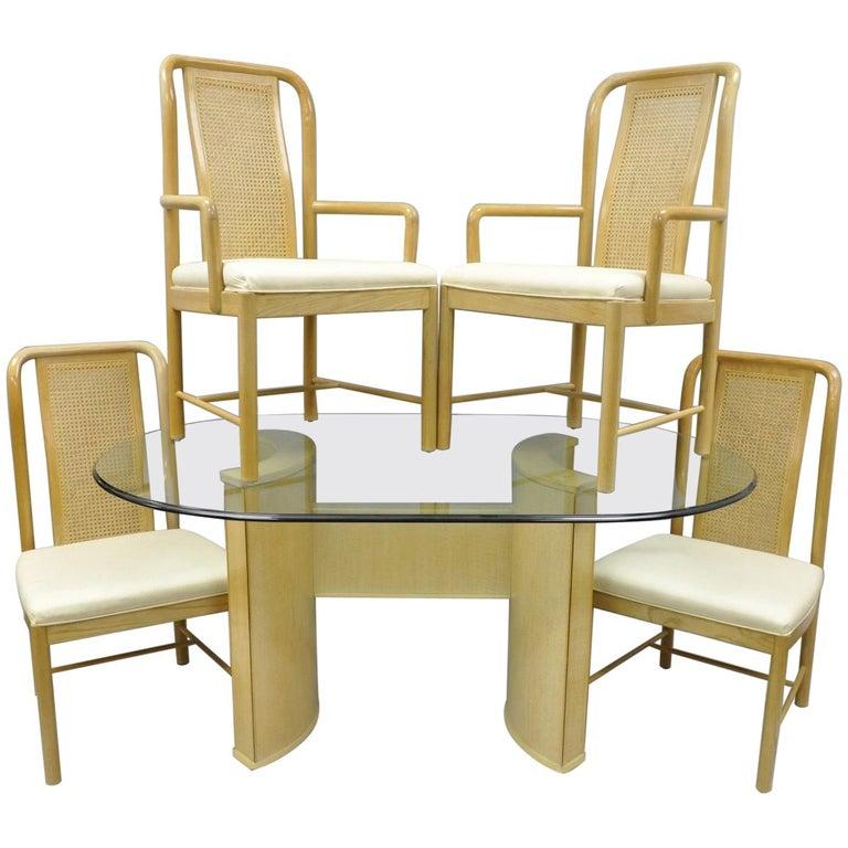 Drexel Heritage Dining Room Set: Drexel Heritage Compatibles Blonde Wood Dining Set Table